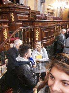 Luigi Scarpa entrevistado en el Congreso de los Diputados
